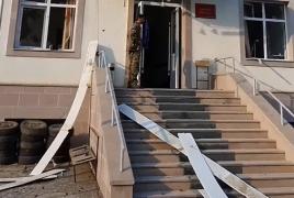 Karabakh hospital damaged in Azerbaijan's attack (Videos)