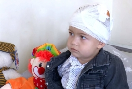 2-year-old toddler injured in Karabakh is stable, hospital says