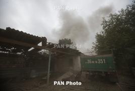 Azerbaijani army shelled Martuni, villages in Karabakh overnight