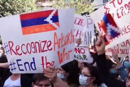 Karabakh women demand UN action in Yerevan rally