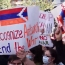 Карабахские женщины протестуют у офиса ООН в Ереване с требованием посетить Степанакерт