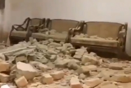 Footage shows Iran house damaged from Azeri shells