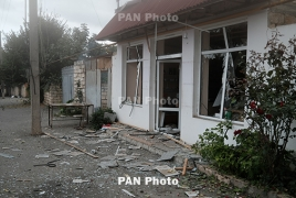 Azerbaijani air force shells Karabakh town of Martuni