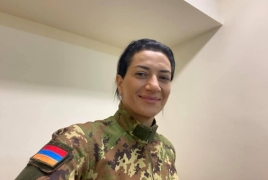 Armenia PM's wife enlisting to defend Karabakh