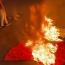 Լիբանանահայերն այրել են Թուրքիայի դրոշն ու Էրդողանի և Ալիևի լուսանկարները