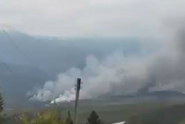 Azerbaijani army sets Karabakh village on fire