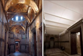 Turkey covers historic Chora Museum frescoes with curtains