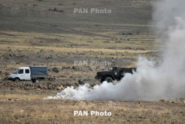 Azerbaijan tried to bring armored vehicles to the south but couldn't