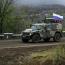 Российские миротворцы сопроводили первую колонну ВС Азербайджана из Шуши