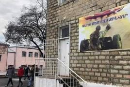 «Փառք հայ զինվորին» գրությամբ դպրոց է վերաբացվել Ստեփանակերտում