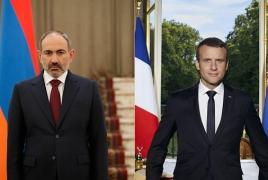 Pashinyan, Macron discuss Armenia-France ties, Karabakh war aftermath
