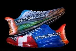 Кроссовки Nike с армянской символикой проданы на аукционе за $40,000
