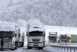 ՀՀ-ում փակ ճանապարհներ կան․ Լարսում ռուսական կողմից 340 բեռնատար է կուտակվել