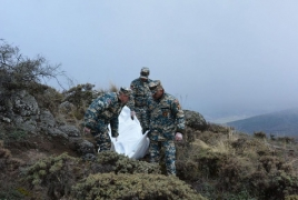 Remains of one soldier, three civilians recovered in Karabakh