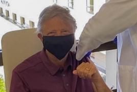 Bill Gates receives first coronavirus vaccine shot