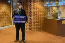 Armenian lawmaker stages protest ahead of PACE session