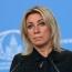 Захарова: Баку дал разъяснения в связи с осквернением памятника ВОВ в Карабахе
