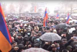 Opposition rally in Yerevan demands Pashinyan's resignation