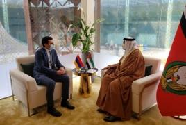 Armenia, UAE discuss defense, high-tech cooperation