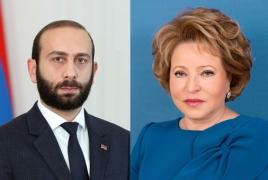 Матвиенко: Спикер НС Армении попросил содействия в вопросе удерживаемых в плену женщин