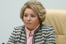 Матвиенко обратилась по вопросу возвращения домой пленных армянок к спикеру Азербайджана
