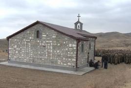 Armenian church razed to the ground in areas under Azeri control