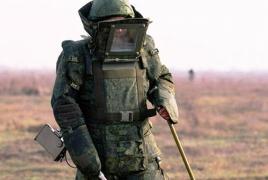Ռուս խաղաղապահներն ականազերծում են Մարտակերտին հարակից գյուղատնտեսական հողերը