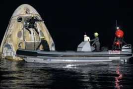 SpaceX Crew-1 mission returns four astronauts back to Earth
