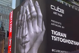 Tigran Tsitoghdzyan's art graces New York's Times Square at Cube Art Fair