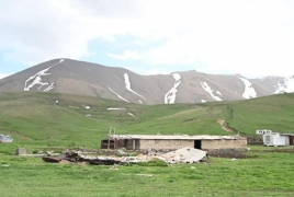 Azeri troops slaughter Armenian villager's cow after stealing it
