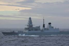 Russia says fired warning shots at British destroyer, but UK denies it