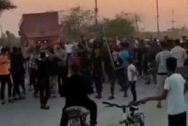 Video shows Iranian police opening fire during Khuzestan water protest