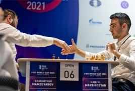 Armenia's Martirosyan beats top Azeri player to reach FIDE World Cup R4