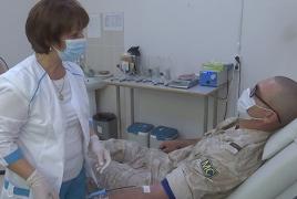 Ռուս խաղաղապահները մոտ 40 լ արյուն են հանձնել Արցախի բնակիչների համար