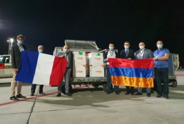 First batch of 25,000 vaccine doses donated by France reaches Armenia