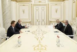 Փաշինյանն ու Միլլերը քննարկել են էներգետիկայի ոլորտում հայ-ռուսական գործակցության զարգացման հեռանկարները