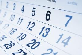 Հունվարի 1-ին հաջորդող օրերն աշխատանքային կլինեն՝ բացառությամբ հունվարի 6-ի