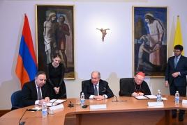 Armenia, Vatican seal memorandum on cultural cooperation