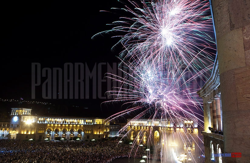 Armenia's Independence day fireworks
