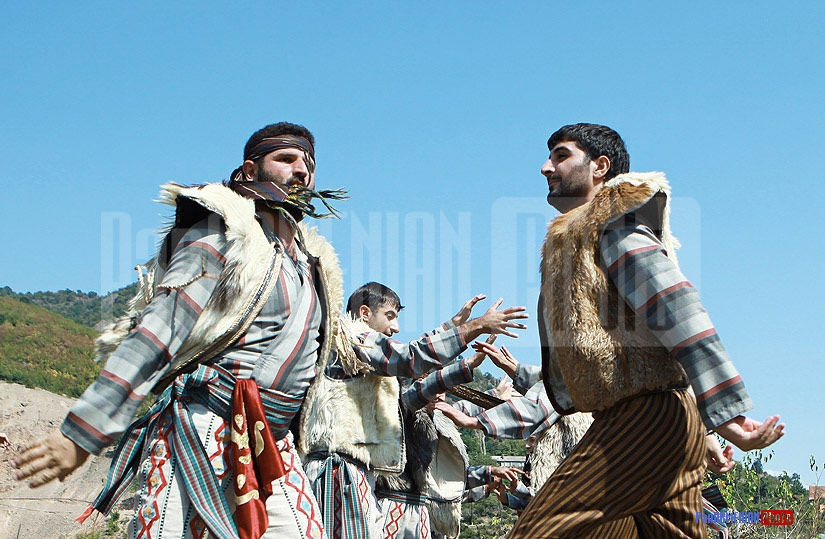 Armenian traditional dancers at Barbecue Festival