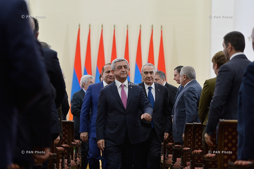 After the referendum on constitutional changes President Serzh Sargsyan hosted numerous officials, political and civil figures