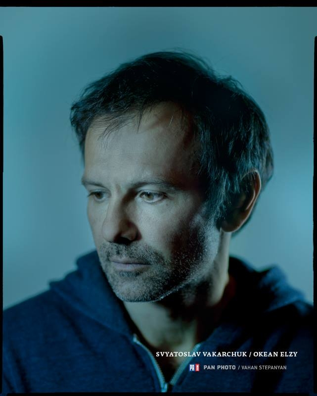 Svyatoslav Vakarchuk, lead vocalist of rock band Okean Elzy