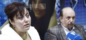 Press conference of Shushan Petrosyan and Yervand Yerznkyan