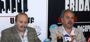 Press conference of Haykazun Alvratsyan and Sergey Vardanyan