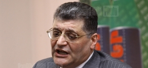Press conference of Aram Karapetyan