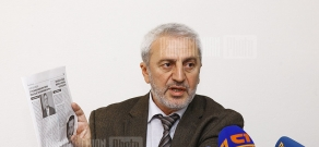 Press conference of Aram Manukyan