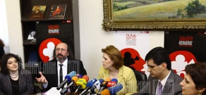 Press conference of RA Minister of Culture Hasmik Poghosyan, General director of