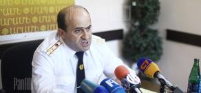 Press conference of the head of RA Police traffic patrol service Norik Sargsyan