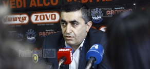 Press conference of ARF Dashnaktsutyun MP Armen Rustamyan
