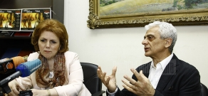 Press conference of RA Culture Minister Hasmik Poghosyan and ballet master Rudolf Kharatyan
